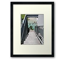 Down Stairs and Swim? Framed Print