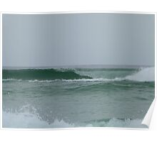 Perfect Waves at Greenmount Beach. Poster