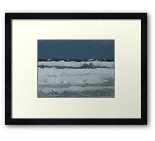 Two Birds - and the Ocean! Framed Print