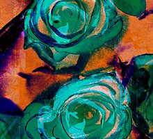 Rose Turquoise Abstract by MQ20