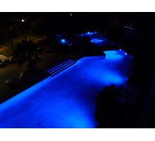 Blue Pool at Night. Photographic Print