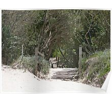 Beach Stairs. Poster