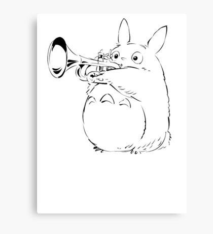 Totoro Trumpeter Canvas Print