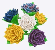 Bouquet of Duct Tape Flowers by rhamm