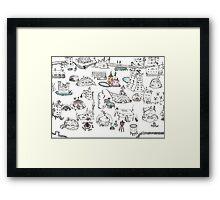 Beach House Brainstorming Framed Print