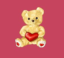 Pink Cute Teddy Bear by Boriana Giormova