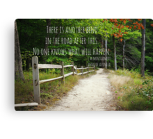 Anne Shirley Bend Road Canvas Print