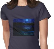 Moonlit Night Womens Fitted T-Shirt