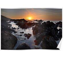 Sunrise at Portwrinkle  Poster