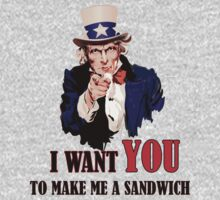 Uncle Sam I Want You (Make Me A Sandwich) Vector by SteliosPap92