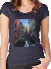 Venice Scene Women's Fitted Scoop T-Shirt