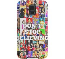 Glee-Don't Stop Believing Collage Samsung Galaxy Case/Skin
