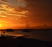 Sunset at Burrum Heads II by Jessica Scott