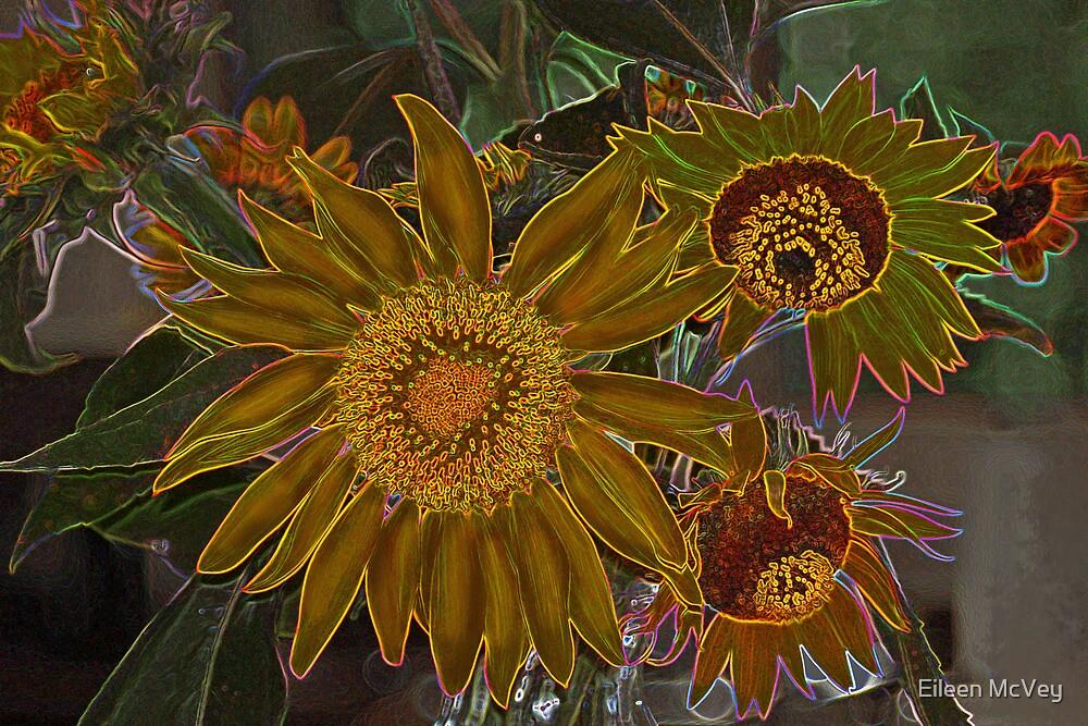 Carnival Sunflowers by Eileen McVey