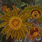 Carnival Sunflowers by Eileen McVey