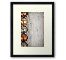 Golden Christmas ornaments border Framed Print