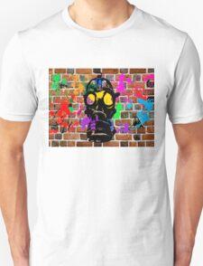 Gasmask on Wall T-Shirt