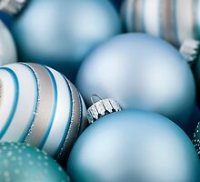 Blue Christmas ornaments by Elena Elisseeva
