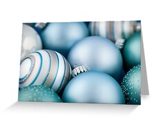 Blue Christmas ornaments Greeting Card