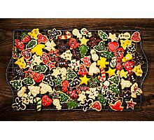 Homemade Christmas cookies Photographic Print
