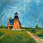 Block Island Lighthouse by Robert Holewinski