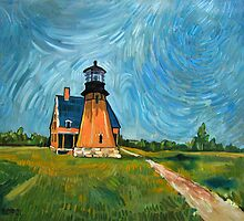 Block Island Lighthouse by Robert Holewinski