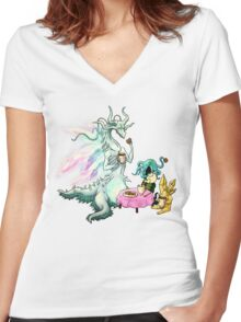 Seath's Private Tea Party Women's Fitted V-Neck T-Shirt