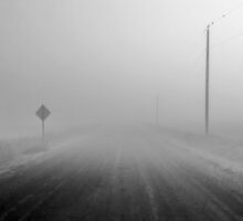 Fog on Wall Road by Clyde Brendon Drodge