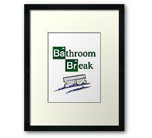 Bathroom Break Framed Print