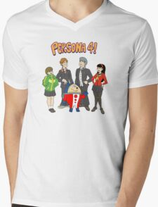 Persona 4 Scooby Doo Mens V-Neck T-Shirt