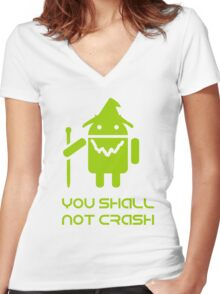 lord of the droids Women's Fitted V-Neck T-Shirt