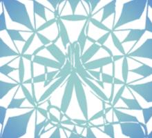 toe stand mandala in blue Sticker