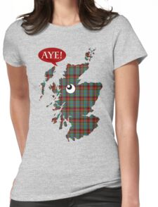 Scottish Independence Aye Map T-Shirt Womens Fitted T-Shirt