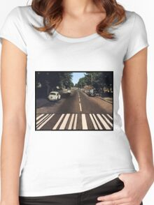 Blank Abbey road - no beatles Women's Fitted Scoop T-Shirt