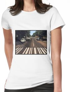 Blank Abbey road - no beatles Womens Fitted T-Shirt