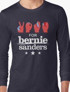 Vote Bernie - Deaf for Bernie Sanders (Sign Language) Fundraising Merchandise Long Sleeve T-Shirt