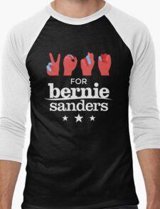 Vote Bernie - Deaf for Bernie Sanders (Sign Language) Fundraising Merchandise Men's Baseball ¾ T-Shirt