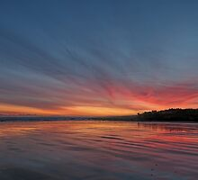 Sunrise over the beach at St Andrews, Scotland by David Alexander Elder