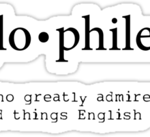 Anglophile Sticker