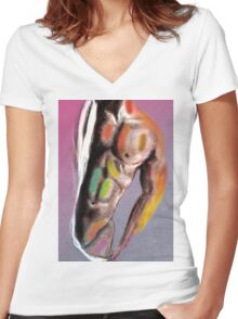 good time  Women's Fitted V-Neck T-Shirt