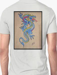 blue dragon parchment card Unisex T-Shirt