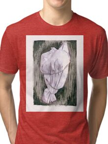 Study of a wrapped tree - Environmental art Tri-blend T-Shirt