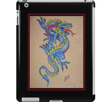 blue dragon parchment card iPad Case/Skin