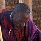 Reflective Masai Elder by phil decocco