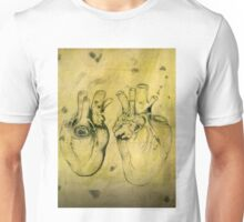 Anatomical study of human heart - Pen and ink  Unisex T-Shirt
