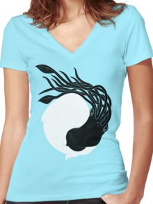 Sea Frenemies Women's Fitted V-Neck T-Shirt