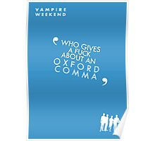 Vampire Weekend- Oxford Comma Poster Poster