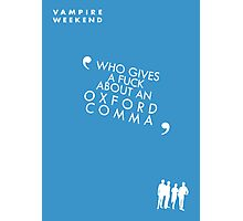 Vampire Weekend- Oxford Comma Poster Photographic Print