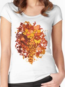 Floral_Flow Women's Fitted Scoop T-Shirt