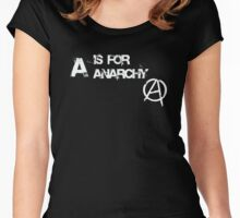 A is for Anarchy Women's Fitted Scoop T-Shirt